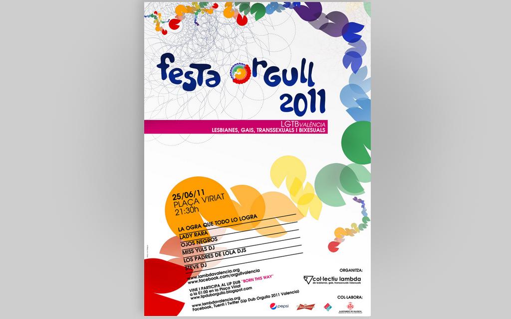 Cartel Fiesta Orgullo Valencia 2011