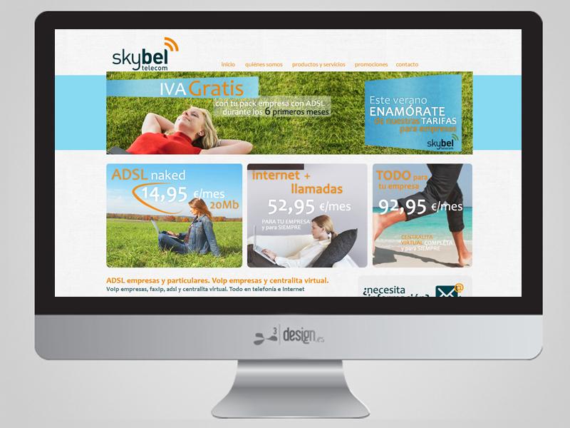 Skybel, web redes y publicidad